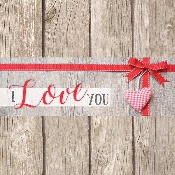Liefde is 5 x 15 cm
