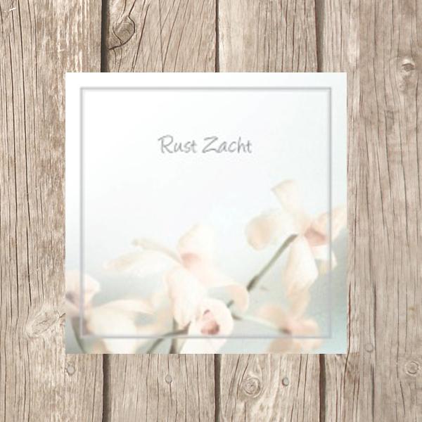 Rouwkaarten 7 x 7 cm, hoogglans papier